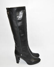 New! Stuart Weitzman 'Gentry' Almond Toe Platform Boot Black Leather Size 8 M