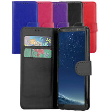 Premium Wallet Case Leather Flip Cover For Samsung Galaxy S8+ Plus Case