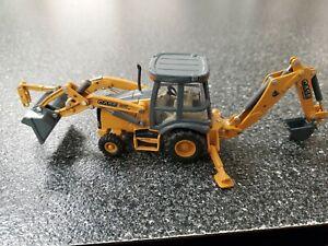 Ertl Construction Case 580 Super N WT Loader Backhoe 1:50 Scale Metal Damaged