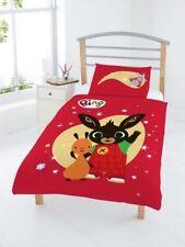 Ropa de cama color principal rojo de poliéster para niños