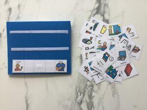 PECS/Boardmaker 30 Large Starter Cards & Folder for Autism/ASD/ADHD/SEN/