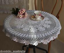 Cotton Hand Crochet Lace Floral Doily Placemat Tablecloth Round 80CM White FP04