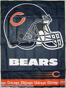 27X37 NEW CHICAGO BEARS BANNER WITH FLAG POLE SLEEVE MADE USA
