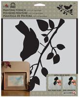"""Plaid FolkArt Painting Stencil Laser Cut Folk Art 9.5"""" x 8.5"""" Bird"""