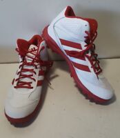 NEW Adidas Turf Hog LX Mid White/Red Football Cleats Mens C76463