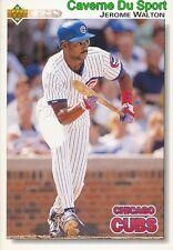463 JEROME WALTON CHICAGO CUBS  BASEBALL CARD UPPER DECK 1992