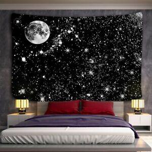 Black and White Moon Mandala Tapestry Bohemian Decoration Wall Hanging Bedroom