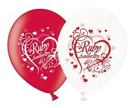 "Happy Ruby 40th Anniversary Printed 12"" Assorted Mix Latex Balloons 1-100ct UK"