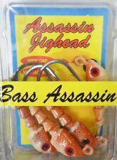 Bass Assassin Jig Heads, 1/8oz, New Penny, 4 per pack