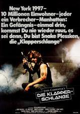 Die Klapperschlange ORIGINAL A1 Kinoplakat John Carpenter / Kurt Russell / KULT