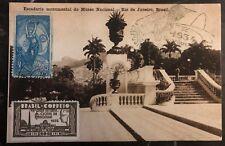 1934 Rio De Janeiro Brazil RPPC Cover National Museum Monument