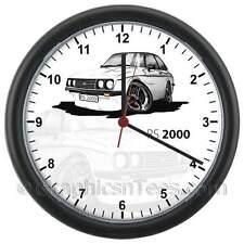 MK2 Escort RS2000 White Caricature Car Cartoon Wall Clock - Personalised Gift