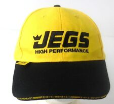 JEGS High Performance Auto Parts Yellow & Black Strapback Ball Cap Hat