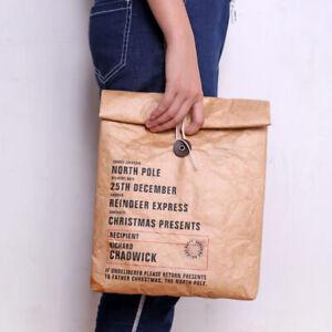 Isolierte Lunch Bag Papier Tüte Brottasche umweltfreundlich wiederverwendbar