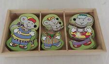 Suzy la souris family - boite puzzle bois - 54 pièces
