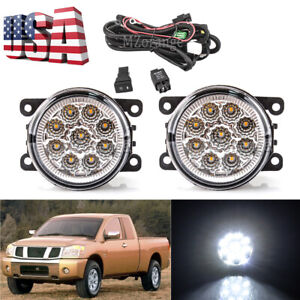 LED Fog Light Lamp Wire Harness Switch For Nissan Frontier Titan 2005 2006-2019