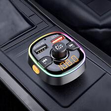 En el automóvil Inalámbrico Bluetooth Transmisor FM 5.0 MP3 Coche Adaptador De Radio USB Cargador W