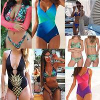 Women's Push Up Padded Bra Bikini Set High Waist Bathing Suit Swimwear Swimsuit