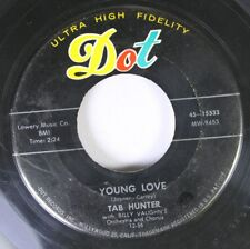 50'S & 60'S 45 Tab Hunter - Young Love / Red Sails In The Sunset On Dot