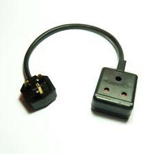 Heavy duty PAT testing adaptor 15A round pin socket