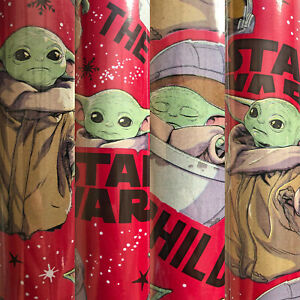 """1 Roll The Mandalorian """"The Child"""" Grogu Christmas Gift Wrapping Paper 70 sq ft"""