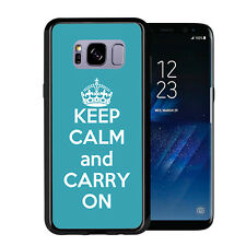 Turquoise Keep Calm and Carry On For Samsung Galaxy S8 Plus + 2017 Case Cover by