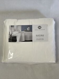 Hotel Collection 680 Thread Count Supima Cotton WHITE King Fitted Sheet $235