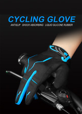 Cycling Gloves Blue Color  Sport Shockproof MTB Bike Touch Screen L Size