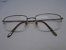 e0cf36e6904 MODO SAKI Womens Eyeglasses Prescription Rx 54-20-125 Brown Half Rim Frames