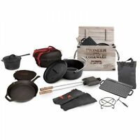 Cast Iron 11 Piece Camping Cooking Set Campfire