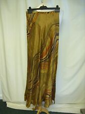 "Ladies Skirt Jaeger brown slim A-line, linen silk mix, waist 26"" length 41"" 2287"