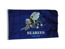 New listing Seabees Flag 3 X 5 Feet New Polyester 2 Grommets Navy
