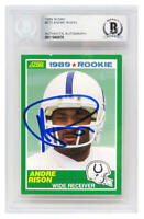 Andre Rison Signed Indianapolis Colts 1989 Score Rookie Football Card - BECKETT