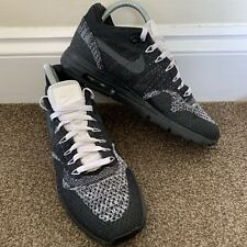 Nike Air Max Flyknit Black Womens Ladies Trainers UK Size 5