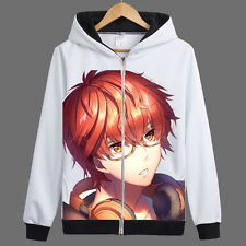 Game Mystic Messenger 707 Zipper Jacket Cosplay Hoodie Unisex Coat#K-CE49