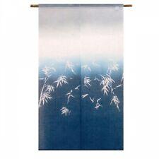 Kyoto Noren Japanese Door Curtain Ai-zome Indigo Dye Bamboo motif Japan