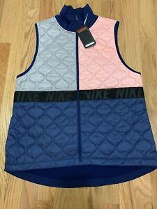 Nike Aerolayer Women's Running Vest BV3869-697 Void/Atmosphere Grey-Size Large