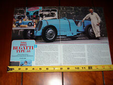 1932 BUGATTI TYPE 53 - ORIGINAL 1984 ARTICLE