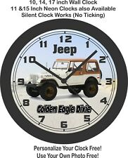 1979 Jeep CJ-7 Golden Eagle Dixie Wall Clock-Ram, Ford, Chevrolet