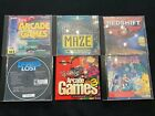 Lot Of 6 Vintage Computer Games Cd~rom Application, Dragon's Lair, Redshift 2...