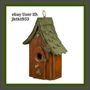 Carson Home Accents Shingle Roof Birdhouse 12-Inch w/ Removable Clean Out Panel
