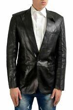 Maison Margiela 14 Men's 100% Leather Black One Button Blazer US 38 IT 48