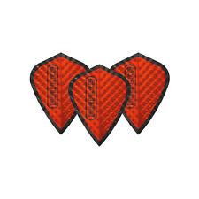 Dimplex Red & Black Kite Dart Flights - 4 sets per pack (12 flights in total)
