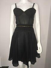 Z Spoke Zac Posen Black Sleeveless  A Line Bustier Dress Size 8