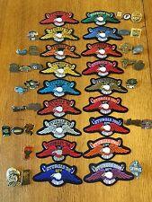 HUGE Lot - 18 Official STURGIS EAGLE PATCHES & 29 Harley-Davidson HOG Dated PINS