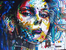 150cm x 100cm CANVAS PRINT URBAN PRINCESS GRAFFITI STREET ART Australia painting