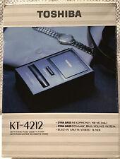 1990 Toshiba KT-4212 Am/FM Stereo Cassette Player Portable Walkman  Box & Manual