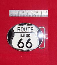 Fibbia belt buckle in metallo smaltata Route 66