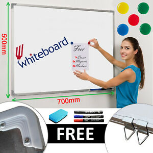 Magnetic Whiteboard White Board Dry Wipe Office Home School Notice 700 x 500 mm