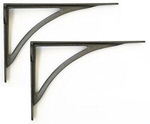 "Pair Cast Iron Victorian Ironbridge Shelf Brackets Simple Arch Bracket 10""/ 25cm"